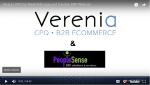 Verenia CPQ On-Demand Demonstration Webinar